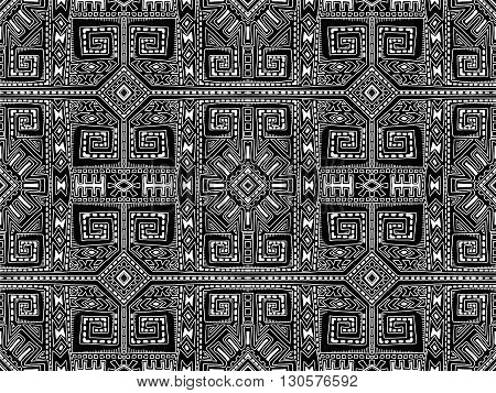 Aztec Abstract Background Maya Black And White 1