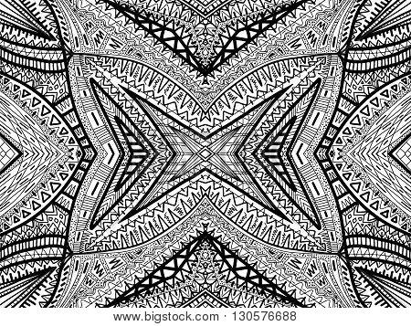 Ethnic Background Abstract Boho Black White 2