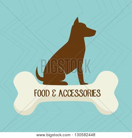 pet accessories design, vector illustration eps10 graphic