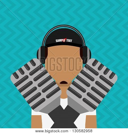 singer isolated design, vector illustration eps10 graphic