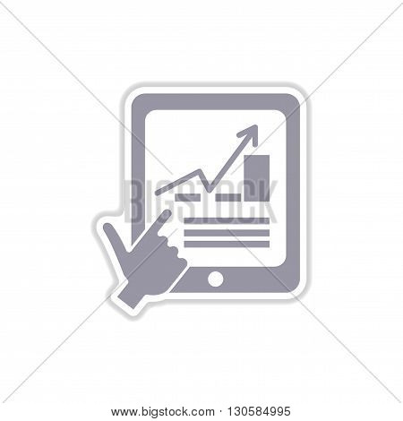 paper sticker on white  background economic presentation