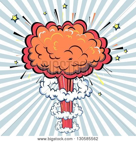 Boom of Comic illustration, Pop Art style. Vector