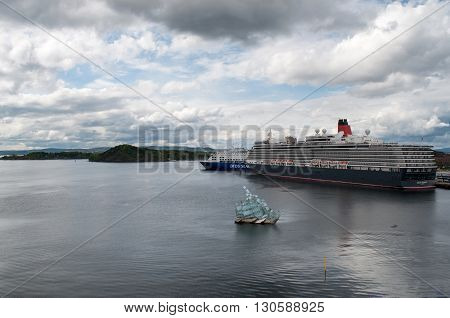 OSLO, NORWAY - MAY 13, 2014: Cunard cruise ship