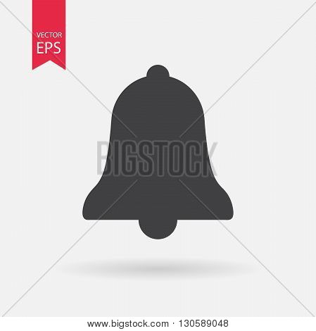 Bell icon. Bell icon vector. Bell symbol isolated on white