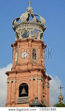 PUERTO VALLARTA MEXICO MAY 11 2016: Church of Our Lady of Guadalupe in Puerto Vallarta, Jalisco, Mexico