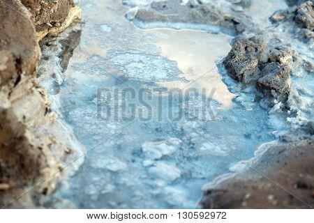 Stream among stones, closeup