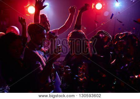 Energetic dancing