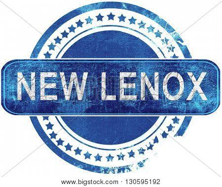 new lenox grunge blue stamp. Isolated on white.