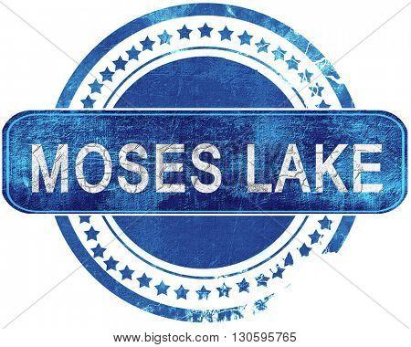 moses lake grunge blue stamp. Isolated on white.