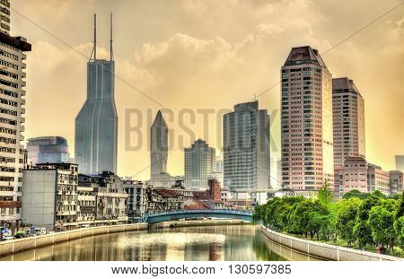 Skyscrapers in Shanghai, the most populous city in China