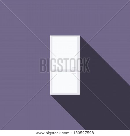 Refrigerator icon in flat style with long shadow. Kitchen and food storage symbol