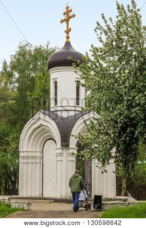 Vologda, Russia - May 24: This is a modern Orthodox chapel built in honor of the 1000th anniversary of the Baptism of Rus May 24, 2013 in Vologda, Russia.