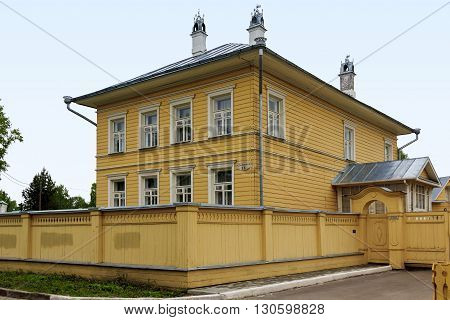 Vologda, Russia - May 24: This is a one of typical buildings of the old town May 24, 2013 in Vologda, Russia.