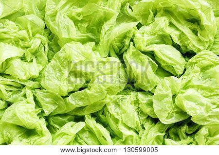 A lot of green plastic bag background