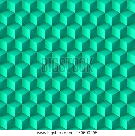 Abstract geometric background with cubes in cyan