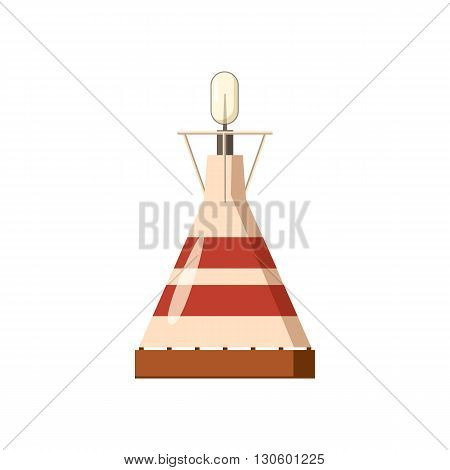 Portable gas burner icon in cartoon style on a white background