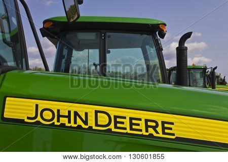 Indianapolis - Circa May 2016: John Deere Dealership. Deere manufactures agricultural construction and forestry machinery II