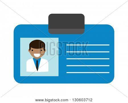 Doctor id vector illustration.