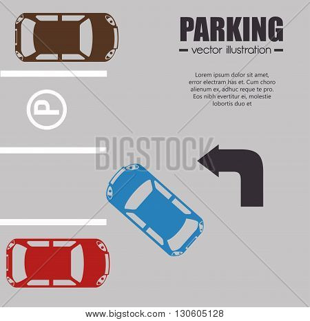 parking lot design, vector illustration eps10 graphic