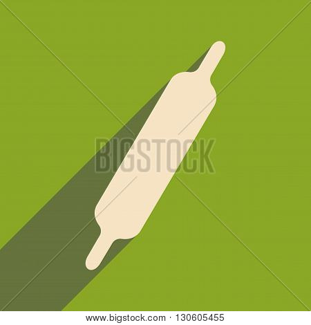 Flat with shadow icon and mobile application rolling-pin