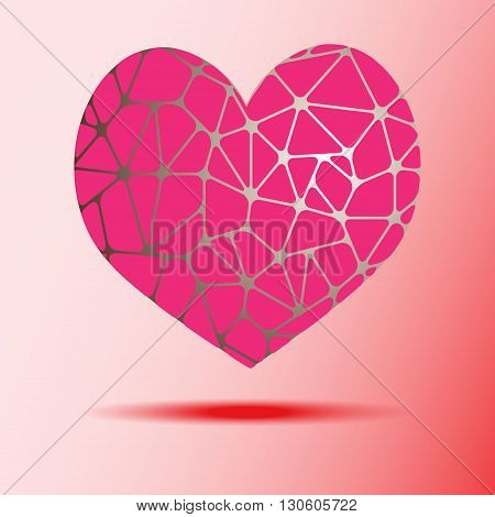 Abstract object in the shape of a heart. Vector illustration.