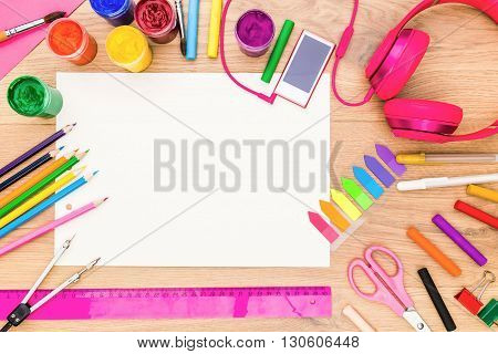 Girly Desktop With Drawing Tools