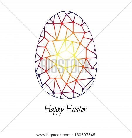 Abstract Easter egg on a white background. Vector illustration.