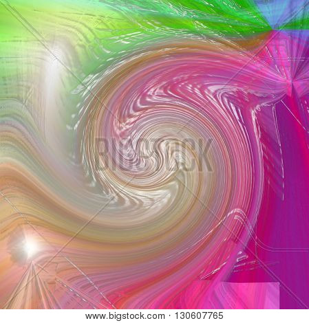Abstract coloring color harmonies gradients background with visual lens flare,plastic wrap and twirl effects