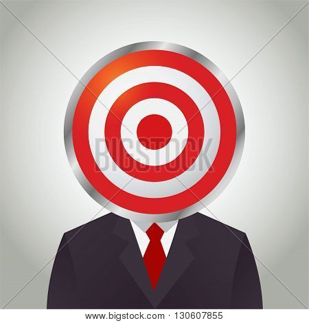 Vector stock of businessman with a target practice board as his head