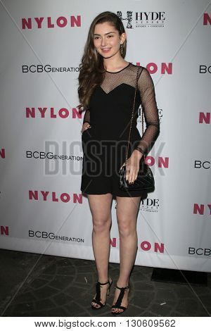 LOS ANGELES - MAY 12:  Emily Robinnson at the NYLON Young Hollywood May Issue Event at HYDE Sunset on May 12, 2016 in Los Angeles, CA