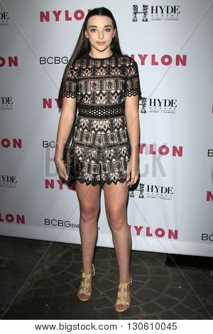 LOS ANGELES - MAY 12:  Kendall Vertes at the NYLON Young Hollywood May Issue Event at HYDE Sunset on May 12, 2016 in Los Angeles, CA