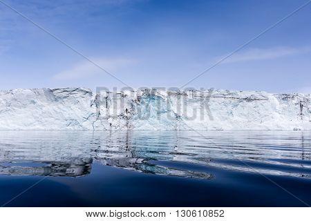 Front of the Hornbreen glacier, Spitsbergen, Arctic
