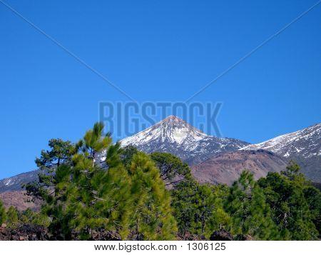 El Teide With Snow 1