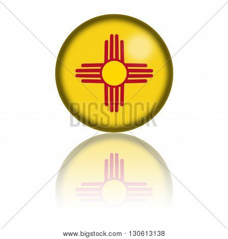 New Mexico Flag Sphere 3D Rendering