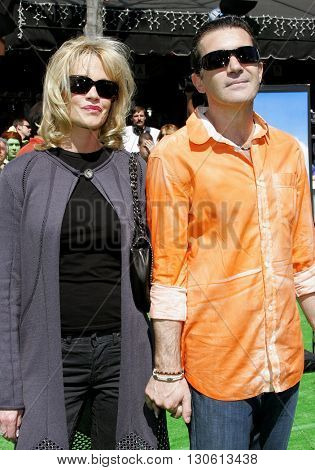 Melanie Griffith and Antonio Banderas at the Los Angeles premiere of 'Shrek 3' held at the Mann Village Theater in Westwood, USA on May 6, 2007.