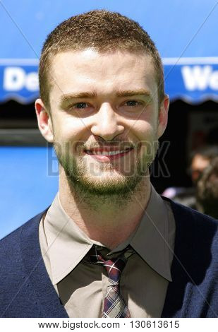 Justin Timberlake at the Los Angeles premiere of 'Shrek 3' held at the Mann Village Theater in Westwood, USA on May 6, 2007.