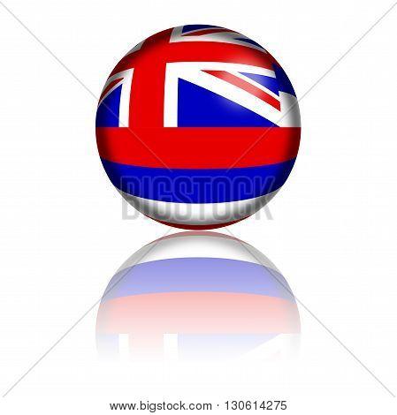 Hawaii Flag Sphere 3D Rendering