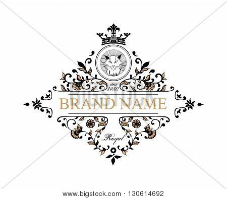 Monogram design elements. Prestige Logo Designs. Elegant line art logo design for Restaurant, Hotel, Heraldic, Jewelry, Fashion, Royalty, Cafe, Wedding invitation, Business card. Vector illustration.