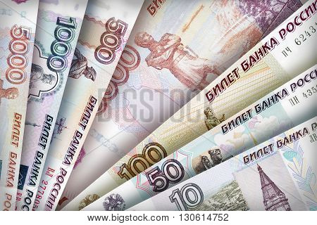 Russian Ruble Background