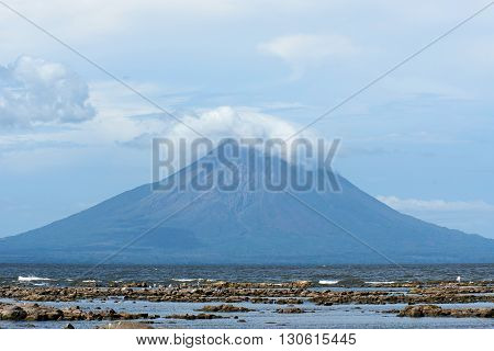 Volcano on ometepe island during day in Nicaragua