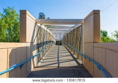 Entrance To Bike Bridge