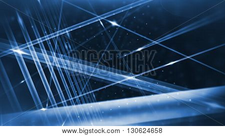 Optical Fibers Animation