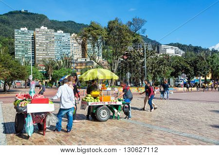 Vendors In Downtown Bogota