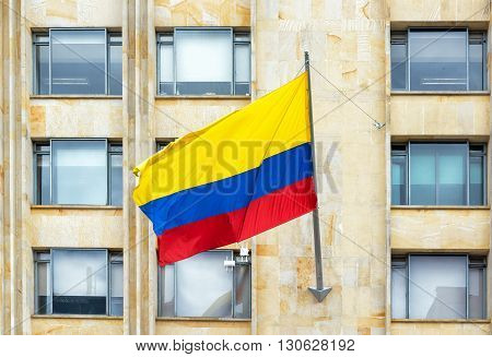 Waving Colombian Flag