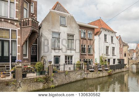 NETHERLANDS - OUDEWATER - MEDIA APRIL 2016: Houses along a canal in Oudewater.