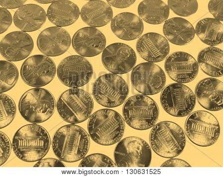 Dollar Coins 1 Cent Wheat Penny Cent - Vintage