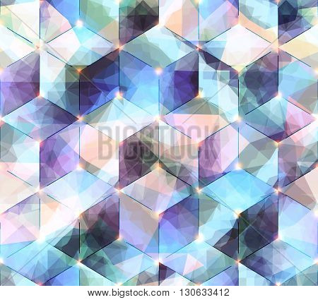 Seamless abstract geometric pattern, imitation of geometric cubes