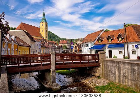 Town of Samobor river and architecture northern Croatia
