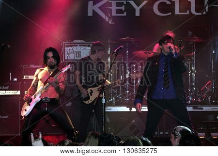 Dave Navarro, Chris Chaney and Donovan Leitch during 'Camp Freddy' Tsunami Relief Benefit Concert held at the Key Club Sunset Strip in West Hollywood, USA on January 27, 2005.
