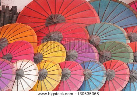 Umbrella, souvenir of Laos, South East Asia